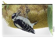 Downy Woodpecker On Sunflower Carry-all Pouch