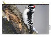 Downy Woodpecker Perched In A Tree Carry-all Pouch