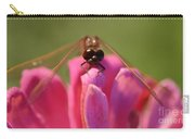 Dragonfly On Pink Flower Carry-all Pouch