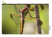 Dragonfly Photo - Yellow Dragon Carry-all Pouch
