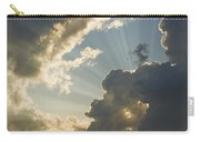 Dramatic Sunbeams And Storm Clouds Maine Photo Poster Print Carry-all Pouch