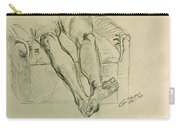 Drawing Class. Legs And Feet Carry-all Pouch