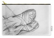 Drawing Class. Sandaled Feet Carry-all Pouch
