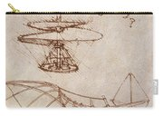 Drawings By Leonardo Divinci Carry-all Pouch