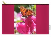 Dreaming Of Butterflies And Pink Flowers Carry-all Pouch