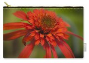 Dreamy Hot Papaya Coneflower Bloom Carry-all Pouch