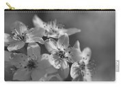 Dreamy Spring Blossoms In Black And White Carry-all Pouch