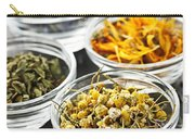 Dried Medicinal Herbs Carry-all Pouch by Elena Elisseeva