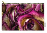 Dried Pink And White Roses Carry-all Pouch
