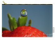 Droplet Falling On A Strawberry Carry-all Pouch