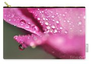 Droplet On Rose Petal Carry-all Pouch