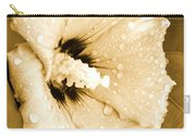 Droplets In Sepia Carry-all Pouch
