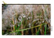Droplets On Grass Carry-all Pouch