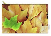 Dry Fall Leaves Carry-all Pouch by Carlos Caetano
