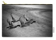 Ducks In Flight V2 Bw Carry-all Pouch