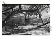 Ducks In The Shade In Black And White Carry-all Pouch