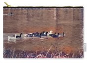 Ducks On Canvas Carry-all Pouch