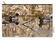 Ducks Reflect On The Days Events Carry-all Pouch