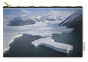 Dugdale And Murray Glaciers Antarctica Carry-all Pouch by Tui DeRoy