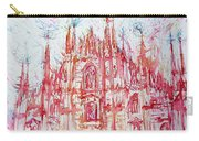 Duomo City Of Milan In Italy Portrait Carry-all Pouch