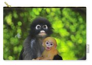 Dusky Leaf Monkey And Baby Carry-all Pouch