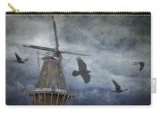 Dutch Windmill With Ravens Carry-all Pouch