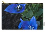 Dwarf Balloon Flower Platycodon Astra Blue  Carry-all Pouch by Steve Purnell