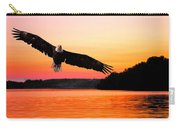 Eagle At Break Of Dawn Carry-all Pouch