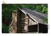 Early 19th Century Log Cabin Carry-all Pouch
