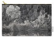 Early Morning Light Black And White Carry-all Pouch