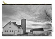 Early Morning On The Farm Bw Carry-all Pouch