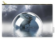 Earth Globe Reflection Carry-all Pouch