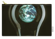 Earth In Light Bulb  Carry-all Pouch