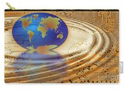 Earth In The Printed Circuit Carry-all Pouch by Michal Boubin