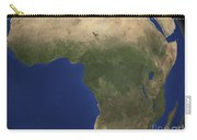 Earth Showing Landcover Over Africa Carry-all Pouch by Stocktrek Images