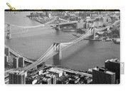 East River Bridges New York Carry-all Pouch