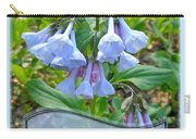 Easter Card - Virginia Bluebells Carry-all Pouch