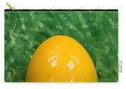 Easter Egg Yellow 3 Smile Carry-all Pouch