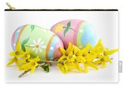 Easter Eggs Carry-all Pouch by Elena Elisseeva
