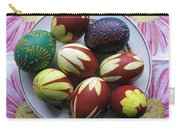 Easter Eggs. Plant Print And Wax Drawing. Carry-all Pouch