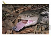 Eastern Blue-tongue Skink Threat Display Carry-all Pouch