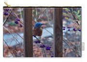 Eastern Bluebird Between The Bars Carry-all Pouch