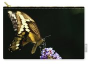 Eastern Tiger Swallowtail Butterfly On Butterfly Bush Carry-all Pouch