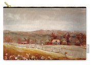 Eastern Townships Quebec Painting Carry-all Pouch by Carole Spandau