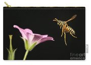 Eastern Yellow Jacket Wasp In Flight Carry-all Pouch