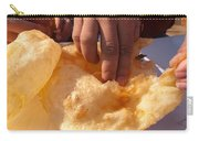 Eating By Hand The Indian Delicacy Of Chole Bhature Carry-all Pouch