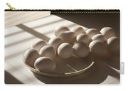 Eggs Lit Through Venetian Blinds Carry-all Pouch