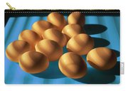Eggs On Blue Lit Through Venetian Blinds Carry-all Pouch