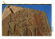 Egyptian Hieroglyphics Temple Of Karnak Carry-all Pouch