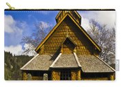 Eidsborg Stave Church  Carry-all Pouch by Heiko Koehrer-Wagner